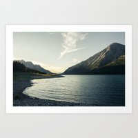 Rocky Mountain Lake At D… Art Print