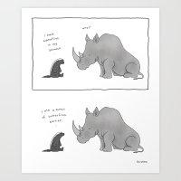 Honey Badger Don't Care  Art Print