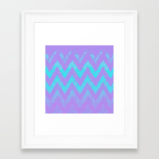 disappearing chevron Framed Art Print