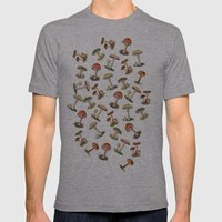 Magical Mushrooms Mens Fitted Tee Athletic Grey SMALL