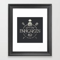 Bacon Pancakes Framed Art Print