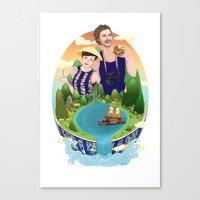 Couple custom illustration for I&S Canvas Print