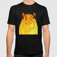 Golden Hippo Mens Fitted Tee Tri-Black SMALL