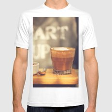 Start up White SMALL Mens Fitted Tee