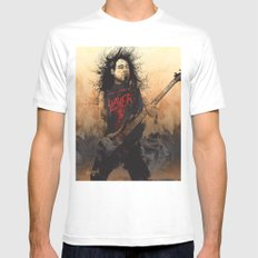 Tom Araya SMALL White Mens Fitted Tee
