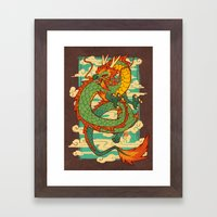 Serpent Of The Wind Framed Art Print