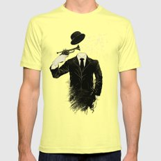 Blown SMALL Mens Fitted Tee Lemon