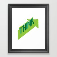 THINK FWRD Framed Art Print