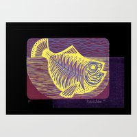 Shiny fish Art Print