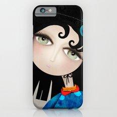 Black Hair Huge Green Eyes Slim Case iPhone 6s