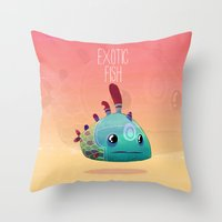 Exotic Fish Throw Pillow