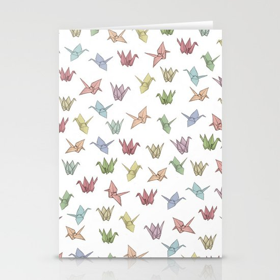 Origami Cranes Stationery Card