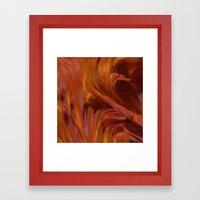Fire Swan Framed Art Print