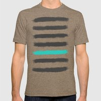 Paint Strokes  Mens Fitted Tee Tri-Coffee SMALL