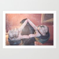 Hipster Triangel Art Print