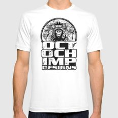 Octochimp Designs SMALL White Mens Fitted Tee