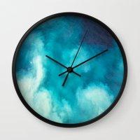 Caribbean Blues Wall Clock