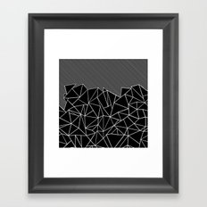 Ab Lines 45 Black Framed Art Print