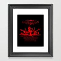 R'lyeh Whiskey Red Label Framed Art Print