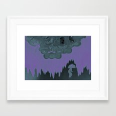 Strange Clouds. Black Rain.  Framed Art Print