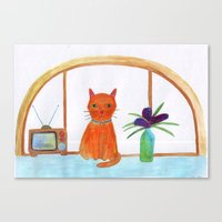 Cat In A Apartment  Canvas Print