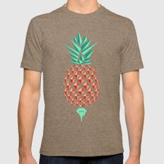 Sobriquet Pineapple. Mens Fitted Tee Tri-Coffee SMALL