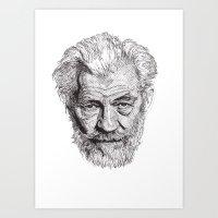 Art Print featuring Ian by Rik Reimert