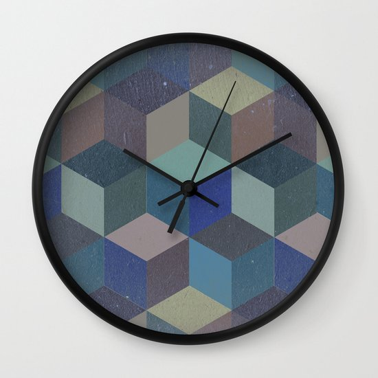 Dimension in blue Wall Clock