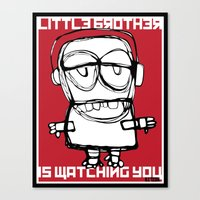Little Brother Is Watchi… Canvas Print