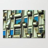 City balconies Canvas Print