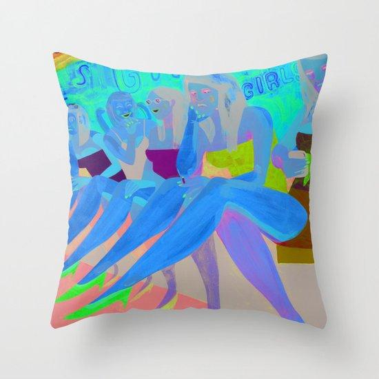 Bar Girls Throw Pillow