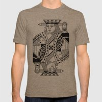Creativity Is King Mens Fitted Tee Tri-Coffee SMALL
