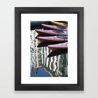 Kayak Reflections Framed Art Print