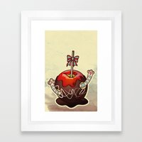SWEET WORMS 2 - caramel apple Framed Art Print
