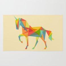 Fractal Geometric Unicorn Rug