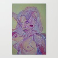 Superimposed Self Study Canvas Print