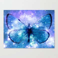 Celestial Butterfly Violet Teal Canvas Print