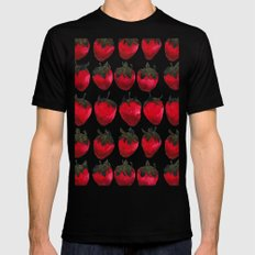 little strawberries Black SMALL Mens Fitted Tee