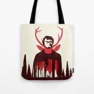 Tote Bag featuring Hannibal by Risa Rodil