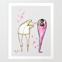 Hugs And Smooches Art Print