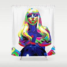 Multicolor Vector Girl Shower Curtain