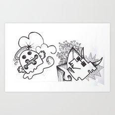 Crazzy I Art Print
