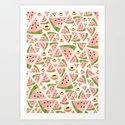 watermelon/peach love Art Print