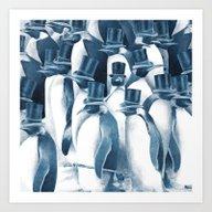 Art Print featuring A Gathering Of Gentlemen… by Eric Fan