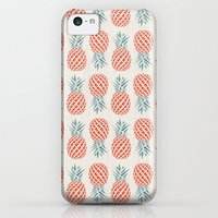 iPhone 5c Cases featuring Pineapple  by basilique