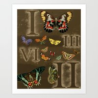 Let's Count Butterflies Art Print