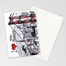 I love San Francisco  Stationery Cards