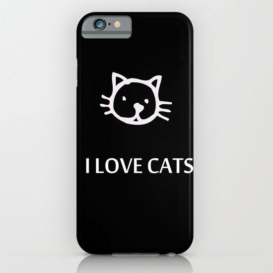 I LOVE CATS iPhone & iPod Case