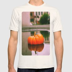 Pumpkin reflection Mens Fitted Tee Natural SMALL
