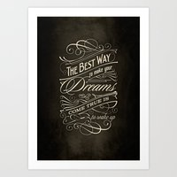 The Best Way - Typograph… Art Print